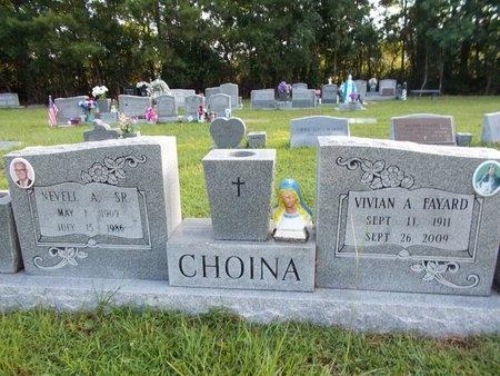 CHOINA, VIVIAN A - Hancock County, Mississippi | VIVIAN A CHOINA - Mississippi Gravestone Photos