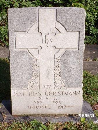 CHRISTMANN, REV, MATTHIAS - Hancock County, Mississippi | MATTHIAS CHRISTMANN, REV - Mississippi Gravestone Photos