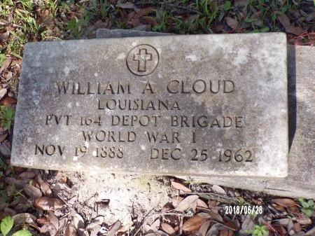 CLOUD (VETERAN WWI), WILLIAM A (NEW) - Hancock County, Mississippi | WILLIAM A (NEW) CLOUD (VETERAN WWI) - Mississippi Gravestone Photos