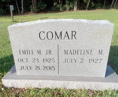 COMAR, EMILE M., JR - Hancock County, Mississippi | EMILE M., JR COMAR - Mississippi Gravestone Photos