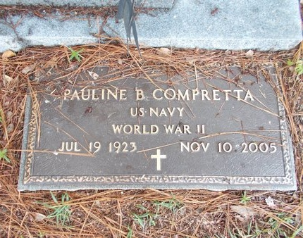 COMPRETTA (VETERAN WWII), PAULINE B (NEW) - Hancock County, Mississippi | PAULINE B (NEW) COMPRETTA (VETERAN WWII) - Mississippi Gravestone Photos