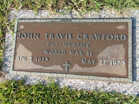 CRAWFORD (VETERAN WWII), JOHN TRAVIS (NEW) - Hancock County, Mississippi | JOHN TRAVIS (NEW) CRAWFORD (VETERAN WWII) - Mississippi Gravestone Photos