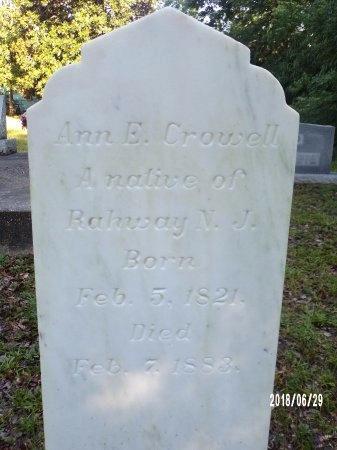 CROWELL, ANN E - Hancock County, Mississippi | ANN E CROWELL - Mississippi Gravestone Photos