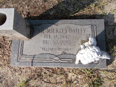 DAILEY, ONIE - Hancock County, Mississippi | ONIE DAILEY - Mississippi Gravestone Photos