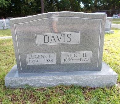 DAVIS, ALICE H - Hancock County, Mississippi | ALICE H DAVIS - Mississippi Gravestone Photos