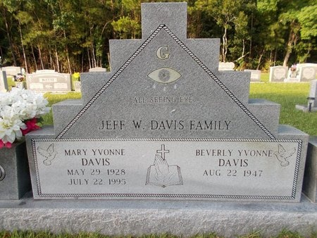 DAVIS, MARY YVONNE - Hancock County, Mississippi | MARY YVONNE DAVIS - Mississippi Gravestone Photos