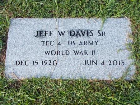 DAVIS (NEW), JEFF W., SR - Hancock County, Mississippi | JEFF W., SR DAVIS (NEW) - Mississippi Gravestone Photos