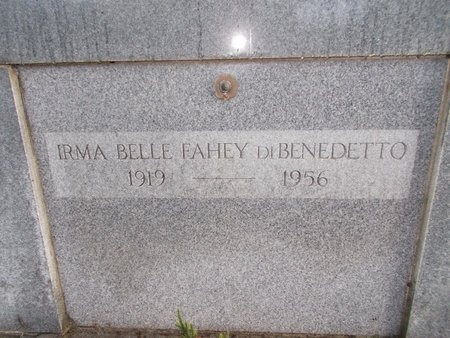 DIBENEDETTO, IRMA BELLE - Hancock County, Mississippi | IRMA BELLE DIBENEDETTO - Mississippi Gravestone Photos