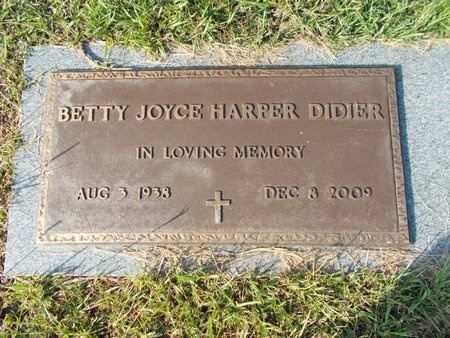DIDIER, BETTY JOYCE - Hancock County, Mississippi | BETTY JOYCE DIDIER - Mississippi Gravestone Photos
