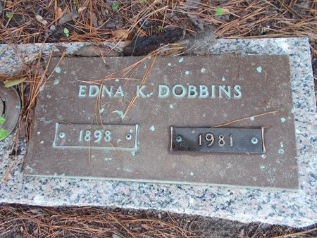 DOBBINS, EDNA K - Hancock County, Mississippi | EDNA K DOBBINS - Mississippi Gravestone Photos