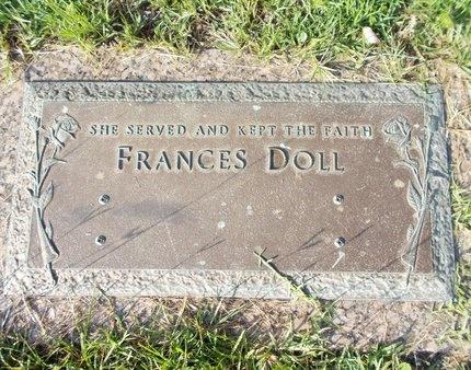 DOLL, FRANCES - Hancock County, Mississippi | FRANCES DOLL - Mississippi Gravestone Photos