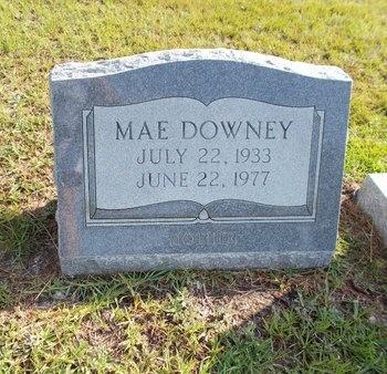 DOWNEY, MAE - Hancock County, Mississippi | MAE DOWNEY - Mississippi Gravestone Photos