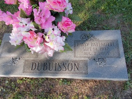PATENOTTE DUBUISSON, PATSY - Hancock County, Mississippi   PATSY PATENOTTE DUBUISSON - Mississippi Gravestone Photos