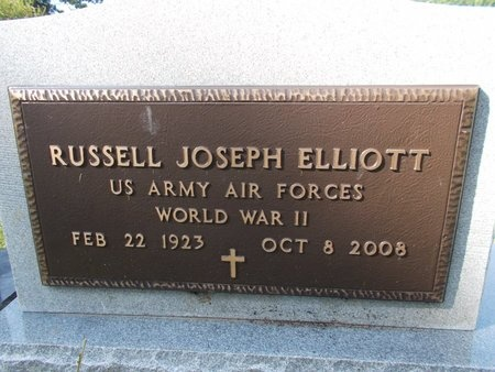 ELLIOTT (VETERAN WWII), RUSSELL JOSEPH (NEW) - Hancock County, Mississippi | RUSSELL JOSEPH (NEW) ELLIOTT (VETERAN WWII) - Mississippi Gravestone Photos