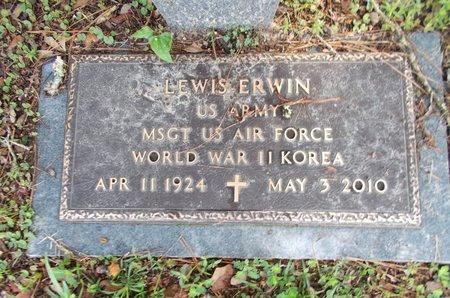 ERWIN (VETERAN 2 WARS), LEWIS (NEW) - Hancock County, Mississippi | LEWIS (NEW) ERWIN (VETERAN 2 WARS) - Mississippi Gravestone Photos