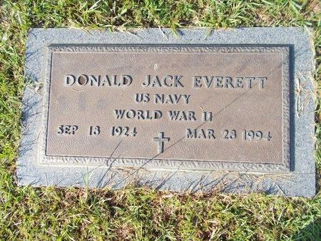 EVERETT (VETERAN WWII), DONALD JACK (NEW) - Hancock County, Mississippi   DONALD JACK (NEW) EVERETT (VETERAN WWII) - Mississippi Gravestone Photos