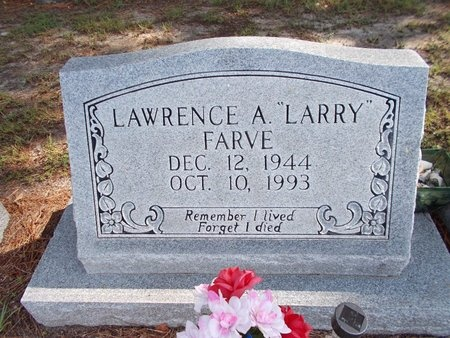 """FARVE, LAWRENCE A """"LARRY"""" - Hancock County, Mississippi   LAWRENCE A """"LARRY"""" FARVE - Mississippi Gravestone Photos"""