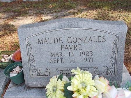 GONZALES FAVRE, MAUDE - Hancock County, Mississippi   MAUDE GONZALES FAVRE - Mississippi Gravestone Photos