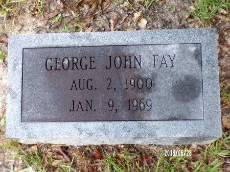 FAY, GEORGE JOHN - Hancock County, Mississippi | GEORGE JOHN FAY - Mississippi Gravestone Photos