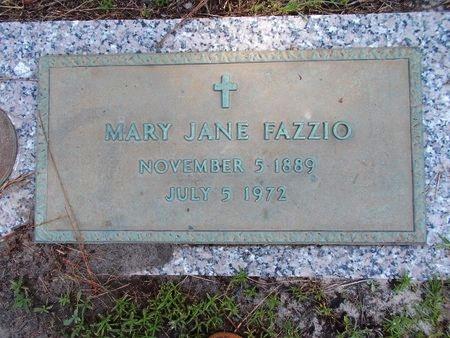 FAZZIO, MARY JANE - Hancock County, Mississippi   MARY JANE FAZZIO - Mississippi Gravestone Photos