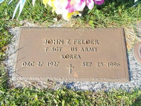 FELDER (VETERAN KOR), JOHN Z (NEW) - Hancock County, Mississippi   JOHN Z (NEW) FELDER (VETERAN KOR) - Mississippi Gravestone Photos