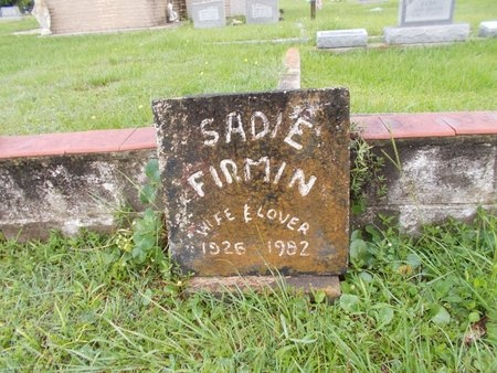 FIRMIN, SADIE - Hancock County, Mississippi | SADIE FIRMIN - Mississippi Gravestone Photos