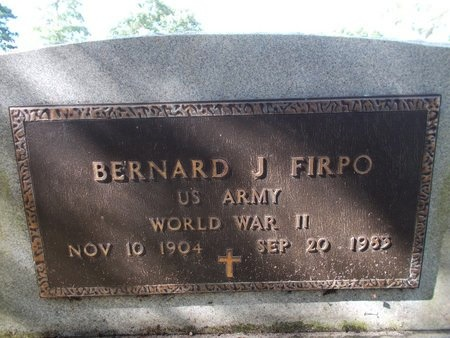 FIRPO (VETERAN WWII), BERNARD J (NEW) - Hancock County, Mississippi | BERNARD J (NEW) FIRPO (VETERAN WWII) - Mississippi Gravestone Photos