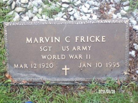 FRICKE (VETERAN WWII), MARVIN C (NEW) - Hancock County, Mississippi | MARVIN C (NEW) FRICKE (VETERAN WWII) - Mississippi Gravestone Photos