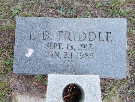 FRIDDLE, L D - Hancock County, Mississippi | L D FRIDDLE - Mississippi Gravestone Photos