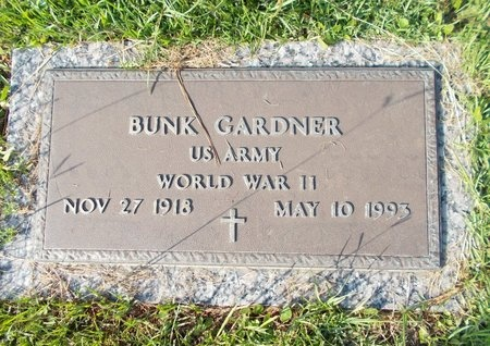 GARDNER (VETERAN WWII), BUNK (NEW) - Hancock County, Mississippi | BUNK (NEW) GARDNER (VETERAN WWII) - Mississippi Gravestone Photos