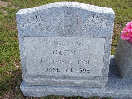 GAZIN, GEORGE W (CLOSE UP) - Hancock County, Mississippi   GEORGE W (CLOSE UP) GAZIN - Mississippi Gravestone Photos