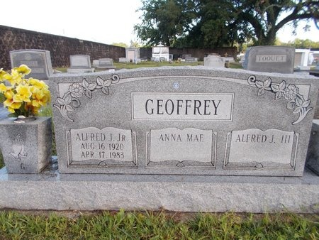 GEOFFREY, ALFRED J., JR - Hancock County, Mississippi   ALFRED J., JR GEOFFREY - Mississippi Gravestone Photos