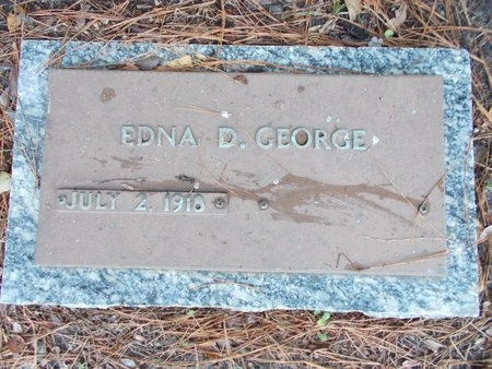 GEORGE, EDNA D - Hancock County, Mississippi | EDNA D GEORGE - Mississippi Gravestone Photos