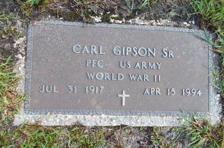 GIPSON (VETERAN WWII), CARL., SR (NEW) - Hancock County, Mississippi | CARL., SR (NEW) GIPSON (VETERAN WWII) - Mississippi Gravestone Photos