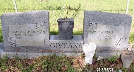 GIVEANS, DORIS A - Hancock County, Mississippi | DORIS A GIVEANS - Mississippi Gravestone Photos