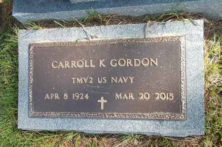 GORDON (VETERAN), CARROLL V (NEW) - Hancock County, Mississippi | CARROLL V (NEW) GORDON (VETERAN) - Mississippi Gravestone Photos