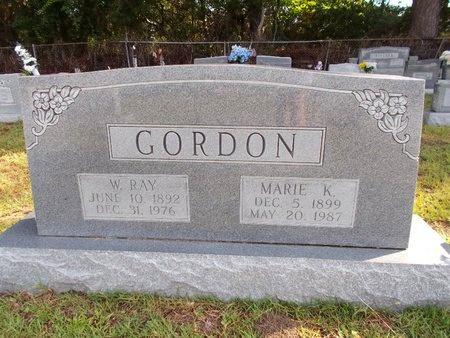 GORDON, W RAY - Hancock County, Mississippi | W RAY GORDON - Mississippi Gravestone Photos