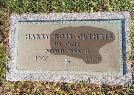 GUTHRIE (VETERAN WWII), HARRY ROSS (NEW) - Hancock County, Mississippi | HARRY ROSS (NEW) GUTHRIE (VETERAN WWII) - Mississippi Gravestone Photos