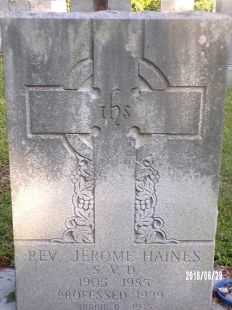 HAINES, REV, JEROME - Hancock County, Mississippi | JEROME HAINES, REV - Mississippi Gravestone Photos