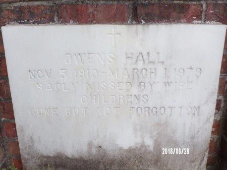 HALL, OWENS - Hancock County, Mississippi | OWENS HALL - Mississippi Gravestone Photos