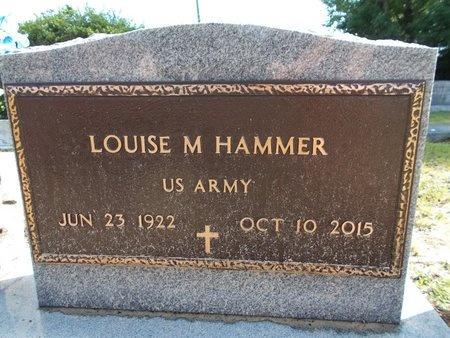 HAMMER (VETERAN), LOUISE M (NEW) - Hancock County, Mississippi | LOUISE M (NEW) HAMMER (VETERAN) - Mississippi Gravestone Photos