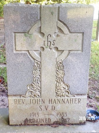 HANNAHER, REV, JOHN - Hancock County, Mississippi   JOHN HANNAHER, REV - Mississippi Gravestone Photos