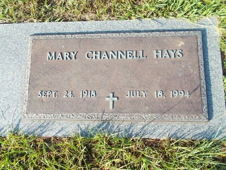 CHANNELL HAYS, MARY - Hancock County, Mississippi | MARY CHANNELL HAYS - Mississippi Gravestone Photos