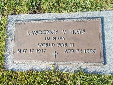 HAYS (VETERAN WWII), LAWRENCE V (NEW) - Hancock County, Mississippi | LAWRENCE V (NEW) HAYS (VETERAN WWII) - Mississippi Gravestone Photos
