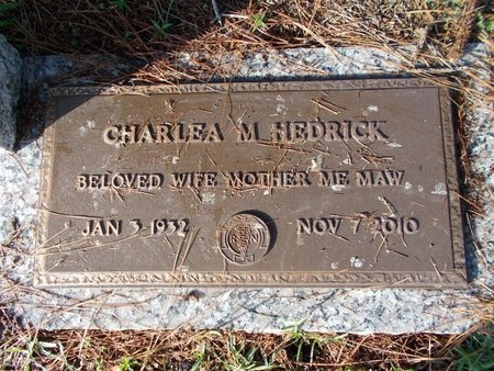 HEDRICK, CHARLEA M - Hancock County, Mississippi | CHARLEA M HEDRICK - Mississippi Gravestone Photos