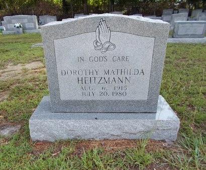 HEITZMANN, DOROTHY MATHILDA - Hancock County, Mississippi   DOROTHY MATHILDA HEITZMANN - Mississippi Gravestone Photos