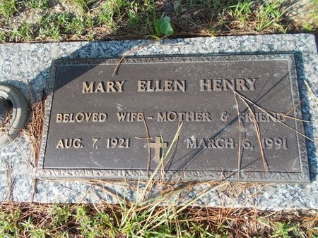 HENRY, MARY ELLEN - Hancock County, Mississippi | MARY ELLEN HENRY - Mississippi Gravestone Photos