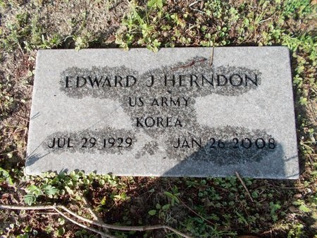 HERNDON (VETERAN KOR), EDWARD J (NEW) - Hancock County, Mississippi   EDWARD J (NEW) HERNDON (VETERAN KOR) - Mississippi Gravestone Photos