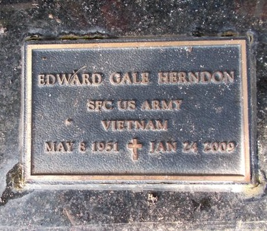 HERNDON (VETERAN VIET), EDWARD GALE (NEW) - Hancock County, Mississippi | EDWARD GALE (NEW) HERNDON (VETERAN VIET) - Mississippi Gravestone Photos