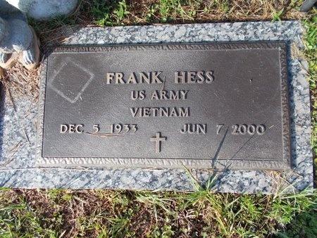 HESS (VETERAN VIET), FRANK (NEW) - Hancock County, Mississippi   FRANK (NEW) HESS (VETERAN VIET) - Mississippi Gravestone Photos